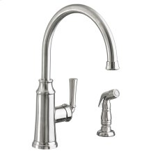 Portsmouth 1-Handle High-Arc Kitchen Faucet with Side Spray - Stainless Steel