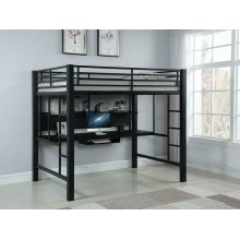 Contemporary Black Metal Loft Bed