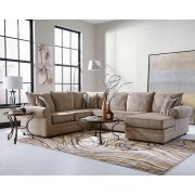 Fairhaven Transitional Cream Herringbone Sectional Product Image