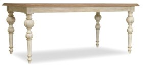 """Dining Room Sunset Point Rectangle Dining Table with Two 18"""" Leaves"""