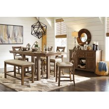 Moriville - Grayish Brown 7 Piece Dining Room Set
