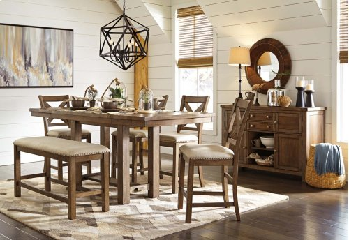 Moriville - Grayish Brown 6 Piece Dining Room Set