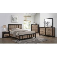 Edgewater Industrial Weathered Oak Queen Bed