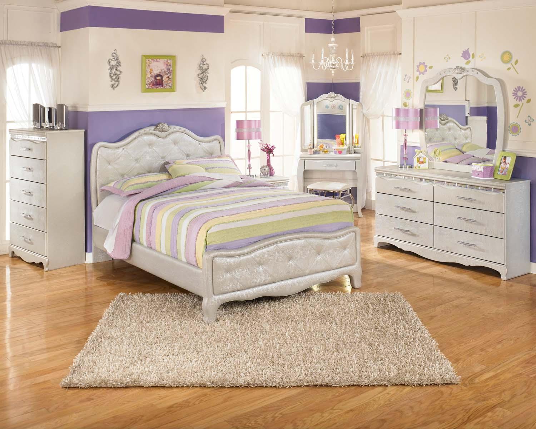 Hidden · Additional Zarollina   Silver 2 Piece Bedroom Set