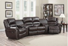 Abbie Burgundy Leather Air Reclining Theater Set