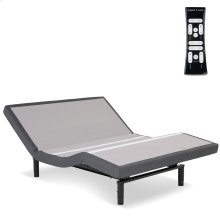 S-Cape 2.0 Adjustable Bed Base with Wallhugger Technology and Full Body Massage, Charcoal Gray Finish, Queen