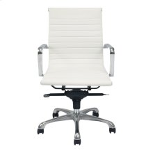 Omega Swivel Office Chair Low Back White