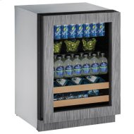 """24"""" Beverage Center With Integrated Frame Finish and Field Reversible Door Swing (115 V/60 Hz Volts /60 Hz Hz)"""
