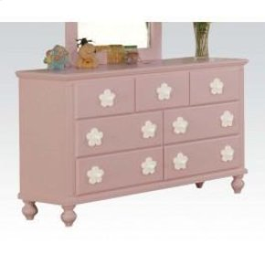 Pink W/wh Flower Dresser