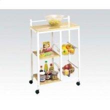 White Kitchen Cart