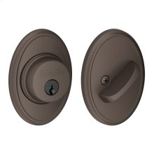 Single Cylinder Deadbolt with Wakefield trim - Oil-Rubbed Bronze