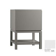 """Jenna 23"""" Bathroom Vanity Base Cabinet in Glassy White"""