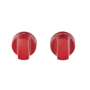 WolfInduction Range Red Knobs
