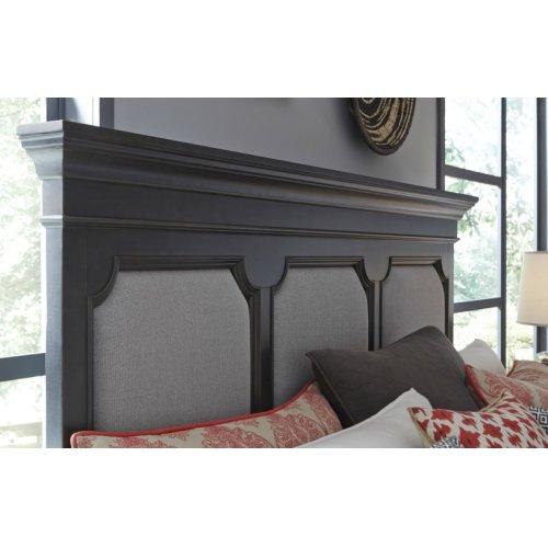Townsend Upholstered Platform Bed w/Storage Ftbd, King 6/6
