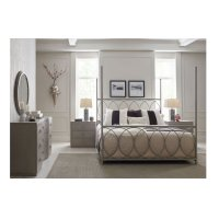 Cinema by Rachael Ray Metal Canopy Bed, Queen 5/0 Product Image