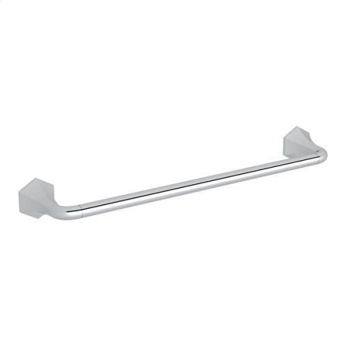 "Polished Chrome Bellia Wall Mount 18"" Single Towel Bar"