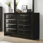 Briana Black Eight-drawer Dresser Product Image