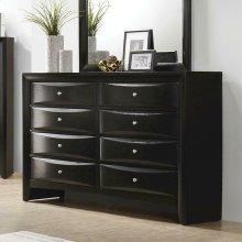 Briana Black Eight-drawer Dresser