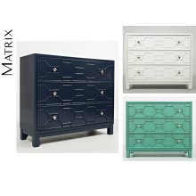 Matrix Accent Chest- Turquoise
