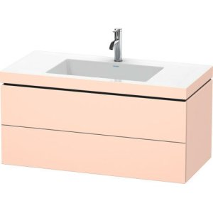 Furniture Washbasin C-bonded With Vanity Wall-mounted, Apricot Pearl Satin Matt Lacquer