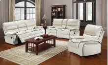 Dover White Loveseat