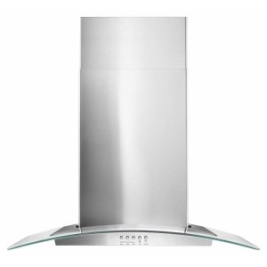 "AMANA30"" Concave Glass Wall Mount Range Hood - Stainless Steel"