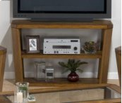 Sofa Table/media Unit W/ 2 Shelves - Wood Top
