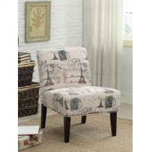 ACCENT CHAIR PARIC W POSTAGE