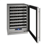 """U-LINE24"""" Wine Refrigerator With Stainless Frame Finish and Right-hand Hinge Door Swing (115 V/60 Hz Volts /60 Hz Hz)"""