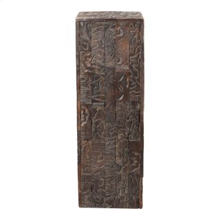 Gerardo Carved Wood Pedestal