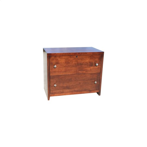 """O-P650 Pacific Urban Oak 2-Drawer Locking Lateral File Cabinet, 21""""W x 20""""D x 55 3/4""""H"""