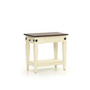 Intercon FurnitureGlennwood Chairside Table  White & Charcoal