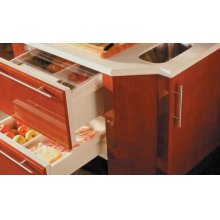 700BRB Refrigerator Drawers - Carbon Stainless