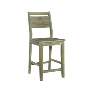 JOHN THOMAS FURNITUREASPEN PANELBACK STOOL IN GRAY WASH
