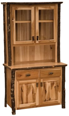 "Hickory 48"" Buffet & Hutch - Rustic Maple"