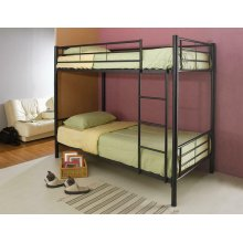 Denley Black Metal Twin-over-twin Bunk Bed