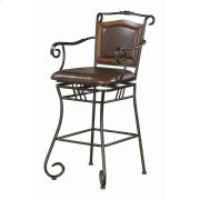 Traditional Metal Bar Stool Product Image