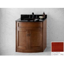 "Marcello 30"" Bathroom Vanity Cabinet Base in Colonial Cherry"