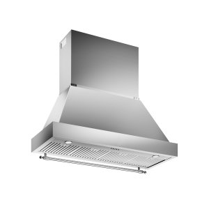 Bertazzoni48 Wallmount Canopy and Base Hood, 1 motor 600 CFM Stainless Steel