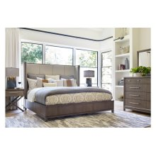 High Line by Rachael Ray Upholstered Shelter Bed, CA King 6/0