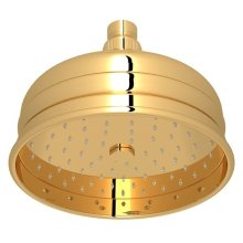 "Italian Brass 6"" Bordano Rain Anti-Cal Showerhead"