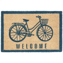 Doormat Bicycle Marine Blue 24x36