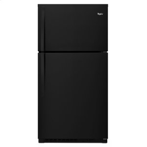 Whirlpool33-inch Wide Top Freezer Refrigerator - 21 cu. ft. Black