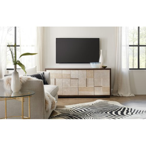 Home Entertainment Composition in Silver Entertainment Console
