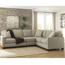 Signature Design by Ashley Alenya 3-Piece Right Side Facing Sofa Sectional in Quartz Microfiber