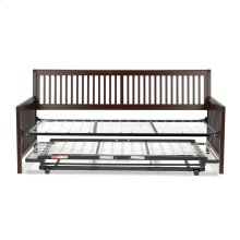 Mission Complete Wood Daybed with Link Spring Support Frame and Pop-Up Trundle Bed, Espresso Finish, Twin