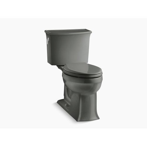 Thunder Grey Comfort Height Two-piece Elongated 1.28 Gpf Toilet With Aquapiston Flushing Technology, Seat Not Included