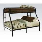 Black Twin/queen Bunk Bed