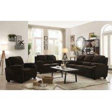 Northend Chocolate Three-piece Living Room Set