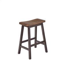 Counter Stools (2/Ctn) - Walnut/Black Finish